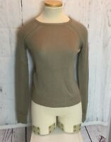 TART Brown Women's Sweater  Eyelet Size Small Cotton Blend