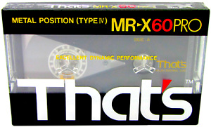 THAT'S MR-X60 PRO  METAL TYPE IV BLANK AUDIO CASSETTE TAPE 1987 BRAND NEW SEALED