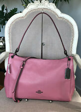 Coach F28966 Mia Pink Rose Pebbled Leather Convertible Shoulder Handbag NWT $398