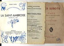 Lot de 3 plaquettes sur le theatre phoutographie sabots du diable saint Ambroise