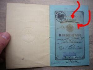 6) Reisepaß - ELSASS-LOTHRINGEN auf PREUßEN geändert - NEUKÖLLN 1919