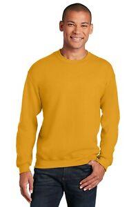 Men's Gildan Heavy Blend Crewneck Sweatshirt Comfy 50/50 Cotton/Poly