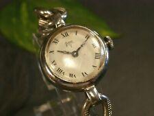 Vintage 800 Silber Uhr Armbanduhr Gawa Handaufzug Defekt Gekerbte Glieder Schwer