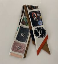 New Louis Vuitton Tribute To BB Twist Silk Bandeau Scarf Authentic