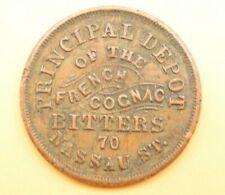 1863 S. STEINFELD CIVIL WAR STORE CARD TOKEN NEW YORK CH AU ABOUT UNCIRCULATED