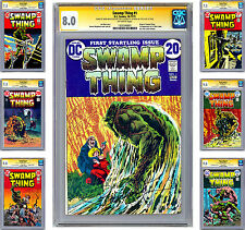 SWAMP THING #1-10 CGC-SS *SIGNED BY CREATORS BERNIE WRIGHTSON & LEN WEIN* 1972
