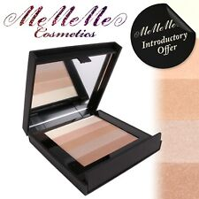 MeMeMe ILLUMINATING POWDER Shimmer Stack Gold Face Highlighter Bronzer Palette