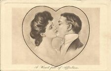 A Heart full of Affection Charles Dana Gibson Postkarte Alfred Schweizen Hamburg