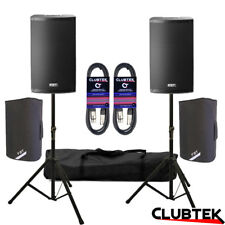 "2 x FBT X-lite 15A 2000W 15"" DJ Club Active Speakers + FREE Bags Stands Leads UK"