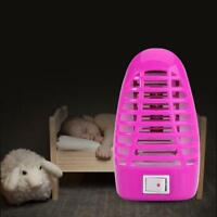 LED Electric Mosquito Fly Pest Bug Insect Trap Zapper Killer Night Lamp EU Plug