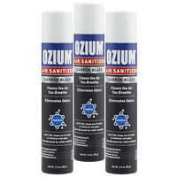 Ozium Air Cleans 3.5 oz. Ozium Spray, Carbon Black (3-PACK)