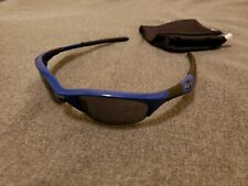 Oakley Half Jacket 1.0 Team Blue w/ Gray Lenses Sunglasses Very Rare