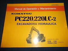 KOMATSU PC220-2 PC220LC-2 EXCAVADORA MANUAL DE OPERACION Y MANTENIMIENTO SPANISH