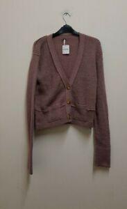 Free people Women's purple Cardigan size S {Z170}
