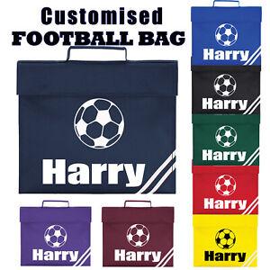 Childrens Personalised Football School Book Bag PE Boys Girls Kids Gift