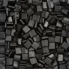 Miyuki Tila Seed Beads Flat Square Matte Black 5x5mm 7.2g Tube (D95/21)