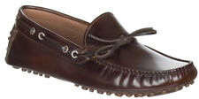 Brunello Cucinelli Men's Brown Leather Gommini Pebble Driving Moccasin Shoes ...