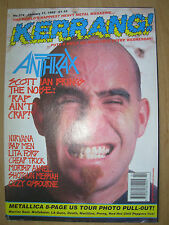 KERRANG MAGAZINE No 374 JANUARY 11 1992 METALLICA AMERICAN TOUR 92 - ANTHRAX