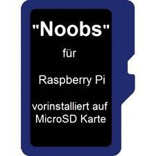 32 GB Micro SD Karte für Raspberry PI Noobs C10 mit Adapter und vorinstalliertem