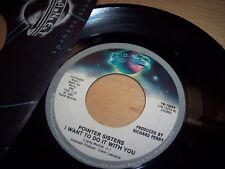 VG++ 1982 Pointer Sisters I Want To Do It With You/American Music 45RPM w/ppr sl