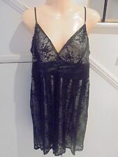 MISS SHOP SIZE 16 BLACK LACE WITH WHITE LINING COCKTAIL EVENING DRESS 'PERFECT'
