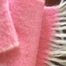 Cotton Candy Pink Soft Fuzzy Plush Mohair Luxury Scarf from Denmark