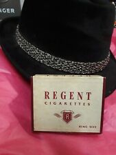 Vintage 1940s Regent Cigarette Box Pack King Size w/ Tax Stamp mid century