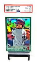 2015 Topps Chrome GREEN REFRACTOR RC A's JAKE LAMB Rookie Card /99 PSA 10 Pop 3