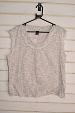 Gap Womens Floral Patterned Top - White - Size XL (RefF4)