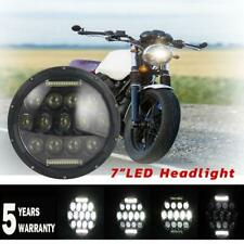"7"" inch LED Headlight Halo Headlamp FOR Honda Ymaha Suzuki Davidson Motorcycle"