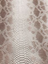 Tan/brown Faux Viper Snake Skin Vinyl-faux Leather-3D Scales-sold By The Yard.