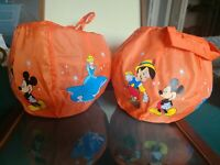 Disney Store Orange Candy Bag Mickey Mouse Cinderella Pinocchio Winnie The Pooh