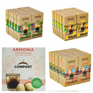 Nespresso Coffee Pod Capsule + Organic & Arabica 100% Compostable & Recycable