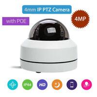 4MP 4X Zoom IP PTZ Camera HD 1520P Speed Onvif IR Dome Outdoor PoE Night Vision