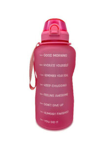 Motivational Water Bottle BPA Free 1 Gallon Jug with Straw and Time Tracker