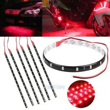 "6x Red 12""/30CM Flexible LED Strip Light Bar 3528 Car Motorcycle Truck Boat 12V"