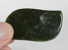 Two Chinese Carved Flat Green Jade Back Scratcher from Gua Sha