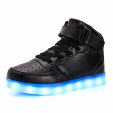 LED High Top Kids Boy Girl Luminous Shoes Light Up Casual Sneakers New Year Gift