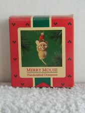 MERRY MOUSE - HALLMARK KEEPSAKE ORNAMENT - HANDCRAFTED - 1985