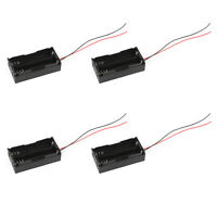 4Pcs 2 Cell 18650 Parallel Battery Holder Case For 3.7V Batteries With Leads USA