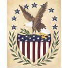 Patriotic Eagle Poster Art Print, American Flag Home Decor