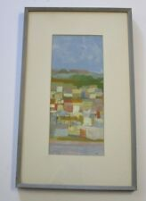 KISH PAINTING 1950'S TO 1960'S CITY VIEW URBAN MODERNISM ABSTRACT EXPRESSIONISM