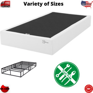 "Box Spring 9"" in Metal Bed Mattress Foundation Folding Twin Full Queen King"