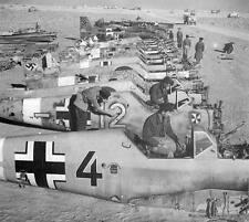 WWII B&W Photo German Luftwaffe Bf109 Me109 Wrecks World War Two  WW2/ 6056