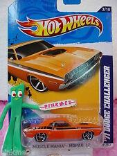 CASE K/L 2012 i Hot Wheels '71 DODGE CHALLENGER 1971 #82∞Orange∞Mopar