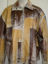 RODELLI UOMO NEW YORK HAND PAINTED LEATHER JACKET 5XL  VERY UNIQUE ULTRA HOT