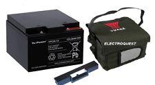 Yuasa REC26-12 26ah Golf Battery T Bar and Carry Bag for Powakaddy