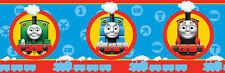 NEW  CHILDRENS KIDS TRAINS THOMAS THE TANK ENGINE & FRIENDS  WALLPAPER BORDER