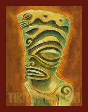 Marquesan West Art Print Tiki Bar Polynesian Kustom PolyPop Tik God Decor