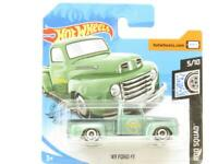Hotwheels 49 Ford F1 Green Rod Squad Short Card 1 64 Scale Sealed